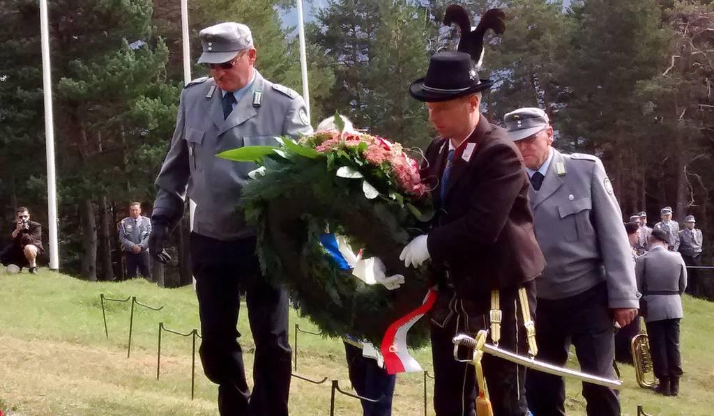 Südtiroler Schützenbund bei zentraler Gedenkfeier der deutschen Gebirgsjäger