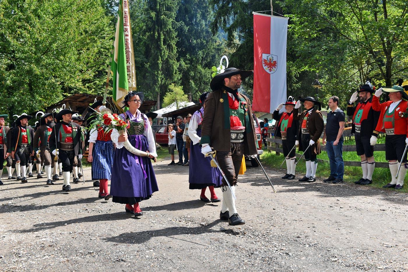 Schützenkompanie St. Pankraz feierte 40 Jahre Wiedergründung