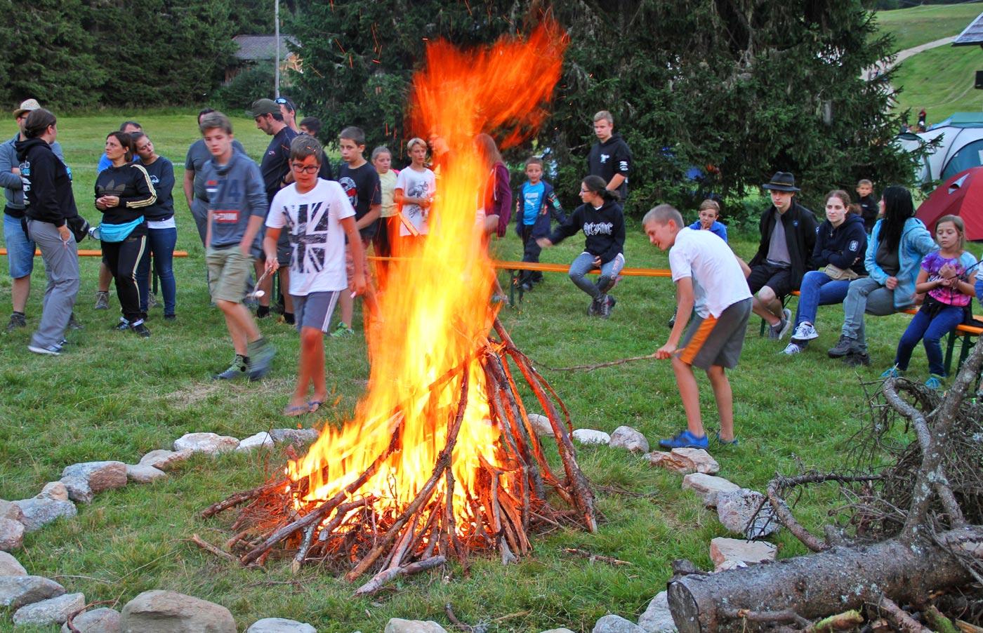 Jungschützenzeltlager 2017 auf dem Vigiljoch