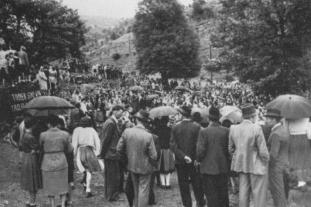 Die Kundgebung auf Kastelfeder vom 30. Mai 1946