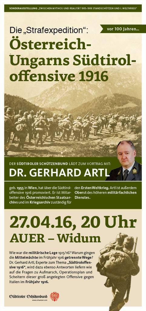 """Vortrag """"Die Strafexpedition: Österreich-Ungarns Südtirol Offensive 1916"""""""