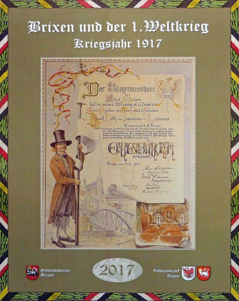 """Fotokalender """"Brixen und der 1. Weltkrieg"""" erschienen"""
