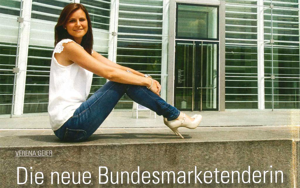 Bundesmarketendeirn Verena Geier in Lifestyle-Magazinen