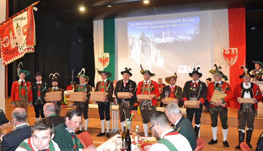 """24. Bezirkstag des Schützenbezirks Brixen: """"Verbunden mit Österreich – unserem Vaterland"""""""