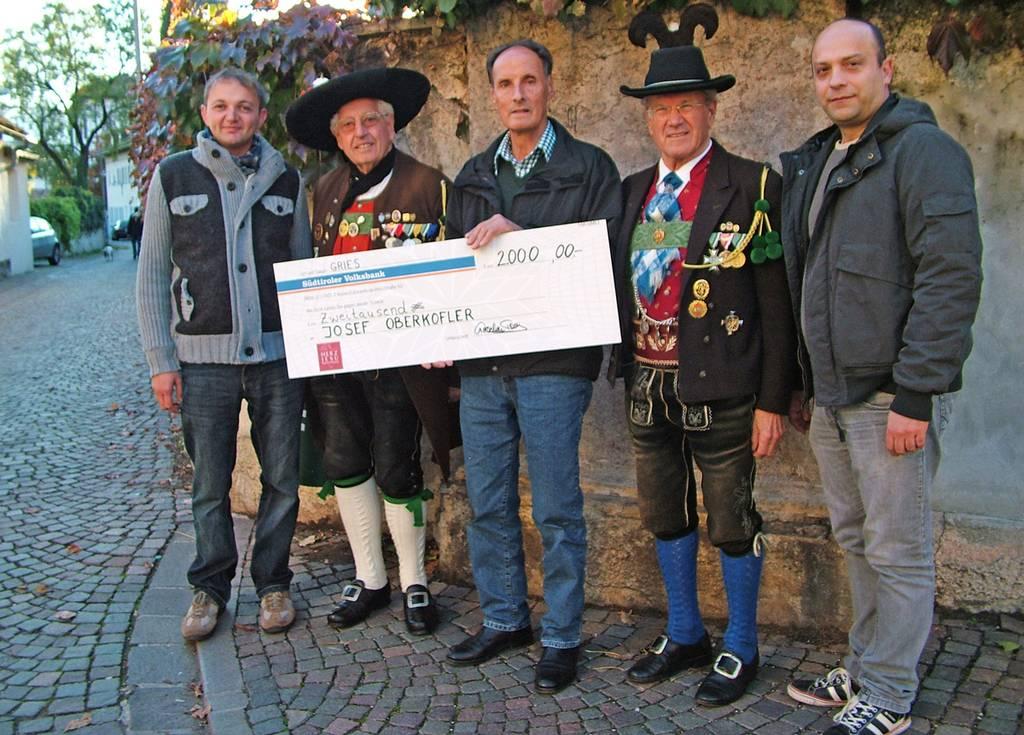 Herz Jesu Notfonds unterstützt Kamerad Josef Oberkofler