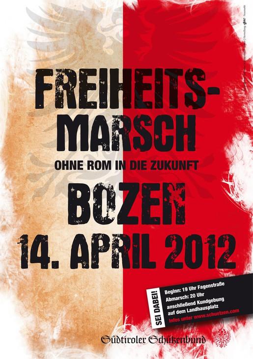 Vinschger Schützen marschieren am 14. April geschlossen