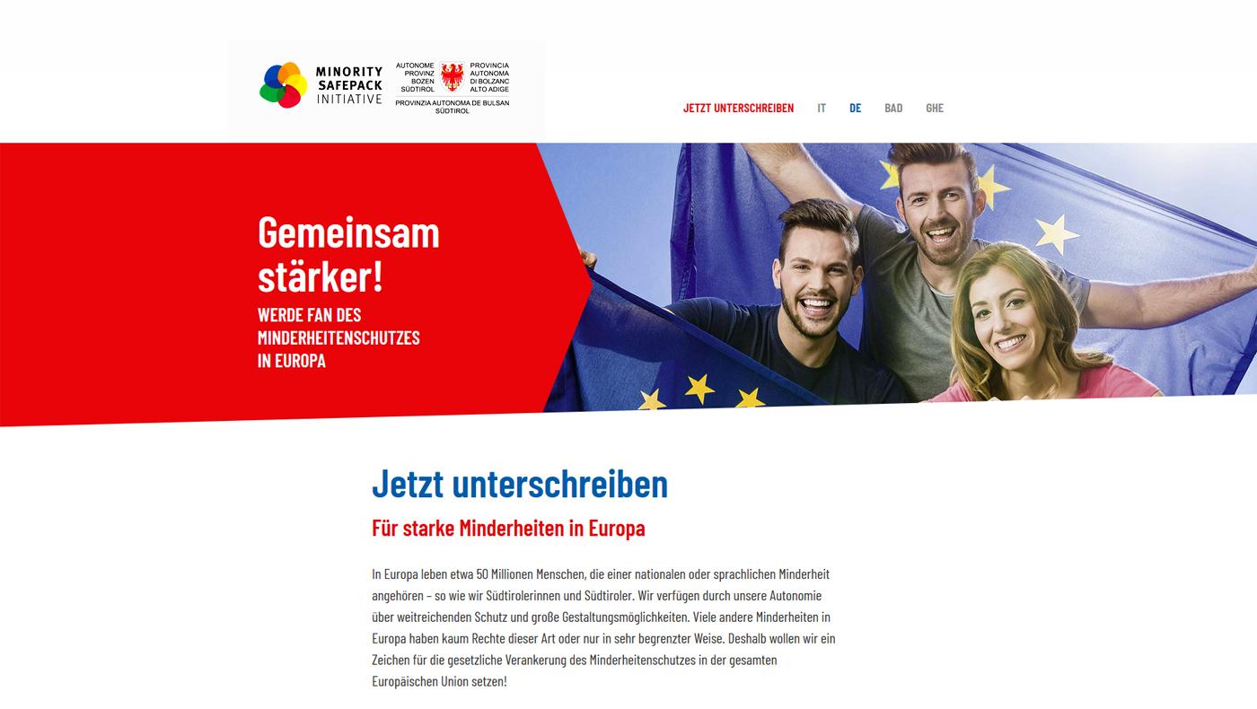 Europäische Bürgerinitiative Minority Safe Pack – Unterschreib auch Du!