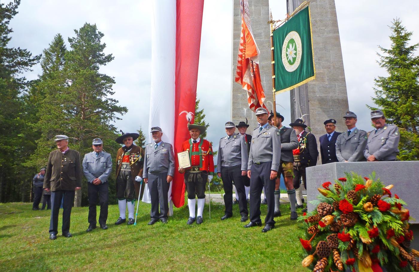 SSB bei Brendtenfeier 2018 – Hohe Auszeichnung für EMjr. Sepp Kaser