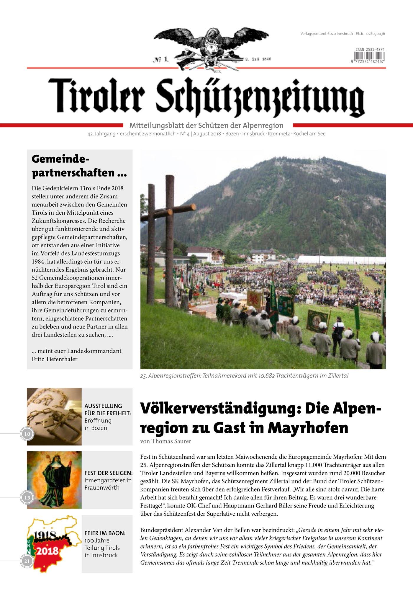 Schützenzeitung Nr. 4-2018