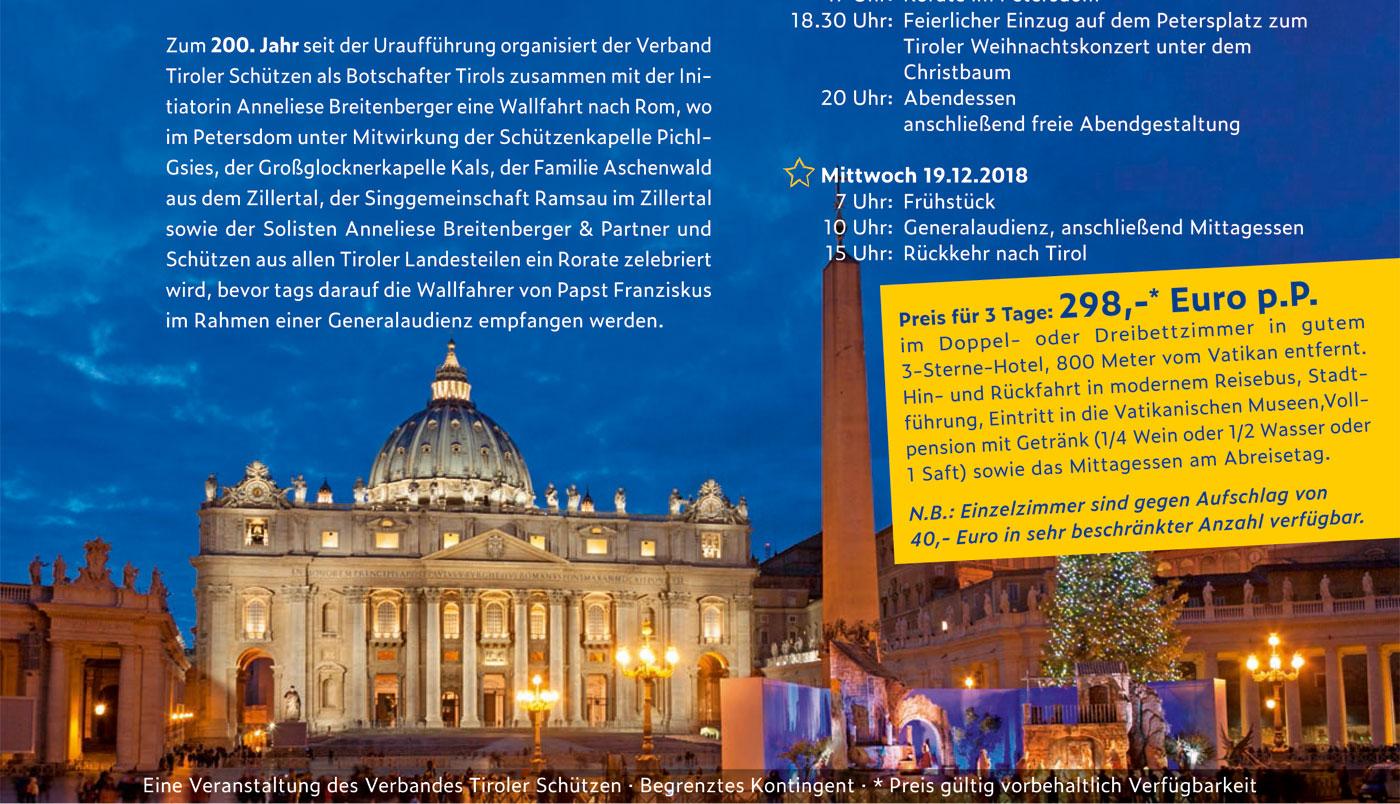 Adventwallfahrt der Tiroler Schützen zum Hl. Vater nach Rom