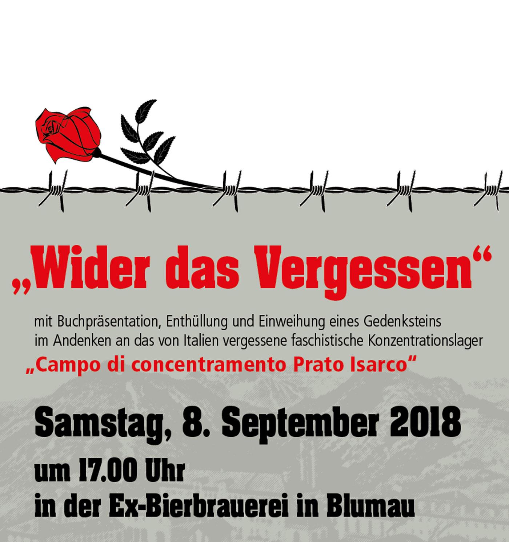 8. September: Erinnerung an Opfer der faschistischen Diktatur