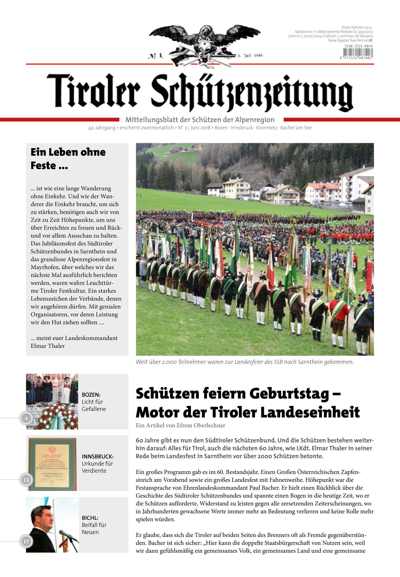 Schützenzeitung Nr. 3-2018