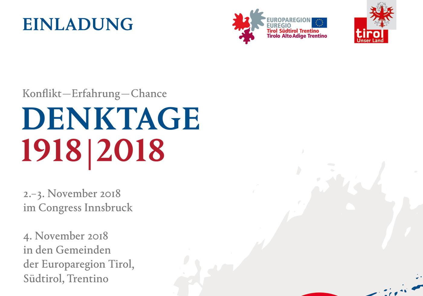 DENKTAGE 1918|2018 der Europaregion Tirol