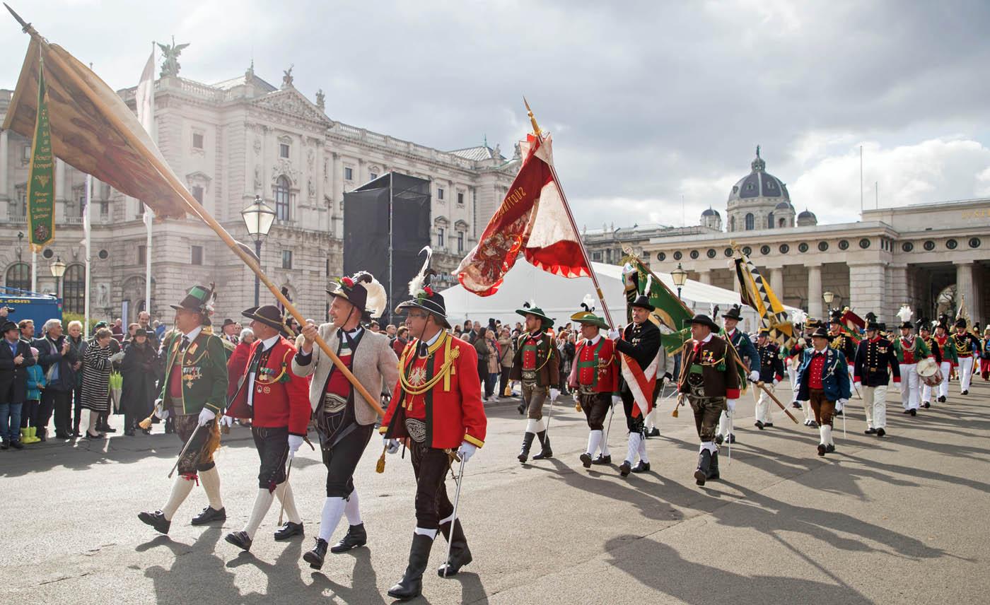100 Jahre Republik Österreich – Festakt unter Salzburger Kommando