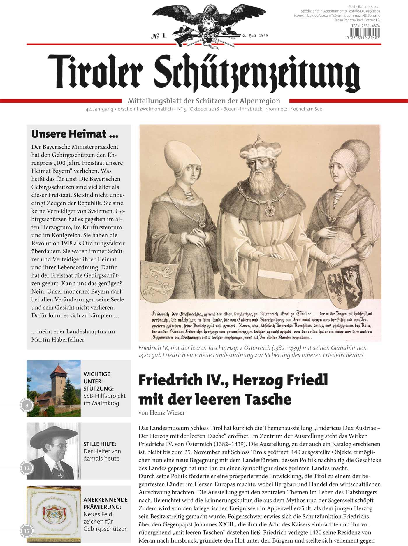 Schützenzeitung Nr. 5-2018