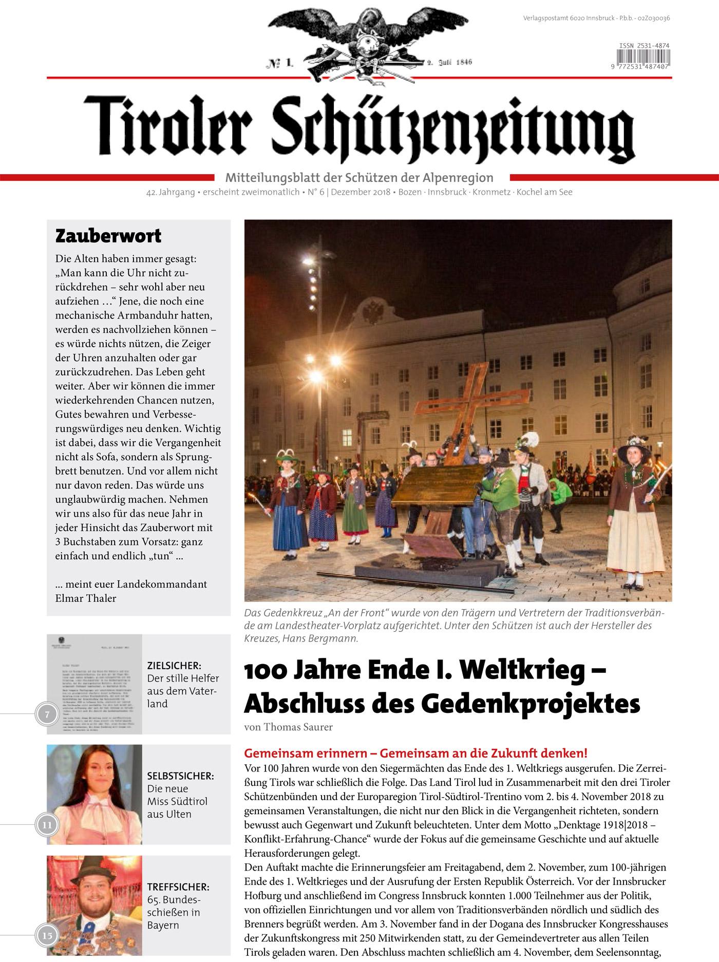 Schützenzeitung Nr. 6-2018