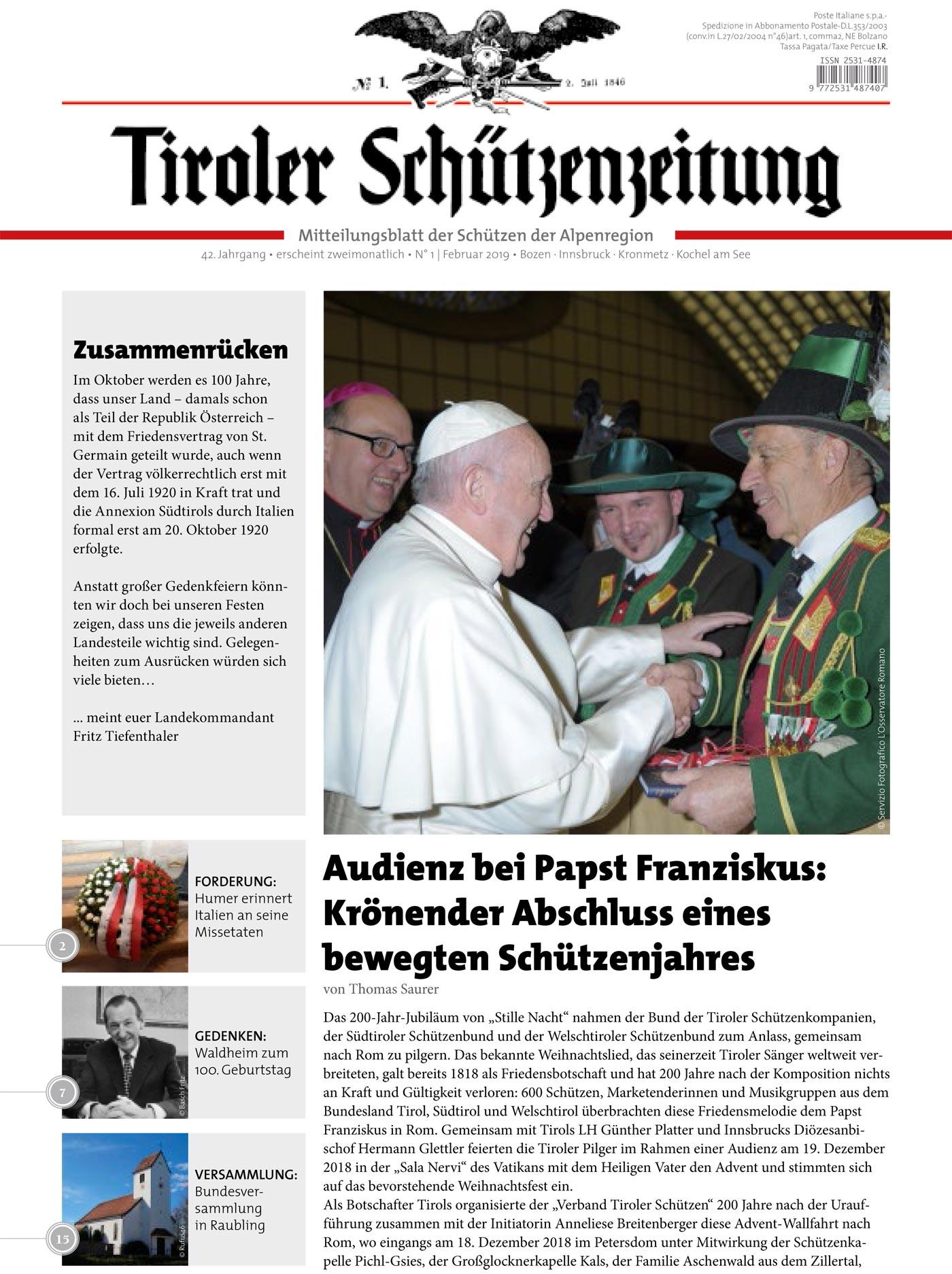 Schützenzeitung Nr. 1-2019